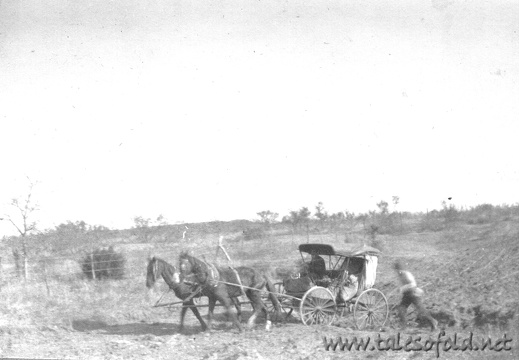 A Stagecoach Between Seymore, Texas, and Dickens County, Texas