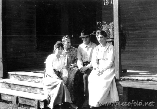 Lottie Daniel, Elizabeth Shanks Daniel, Charles Daniel, and his Wife Myra Tolbert Daniel