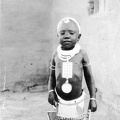 A South African Child in an Outfit Made of Beads