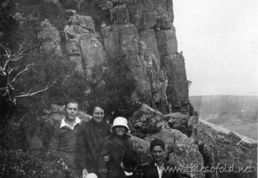 Picnic on Platberg Mountain, August, 1928