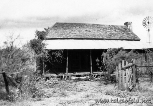 Sansom Home in Llano, Texas, June 22, 1952