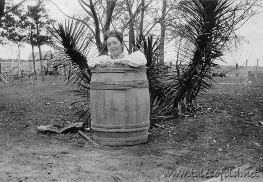 Dollie Daniel in a Barrel