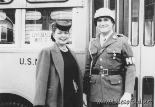 Esther Williams and an MP Soldier