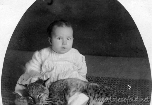 Unknown Baby and Cat