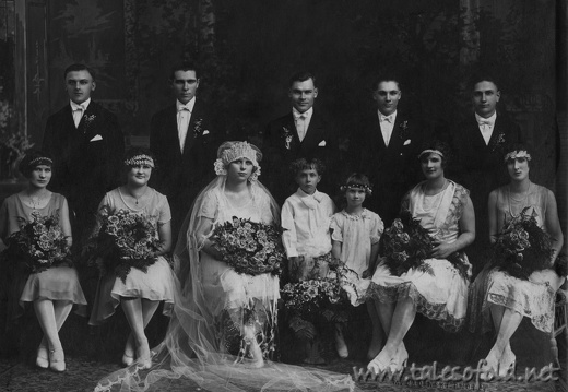 John Hajec and Mary Ludwa Wedding, July 26, 1926