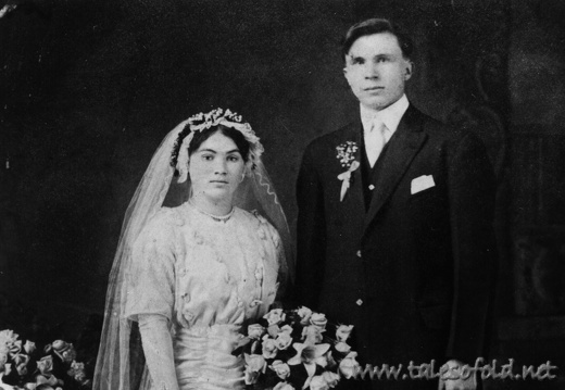 Stanley Wnuk and Verna Hajec Wedding Portrait